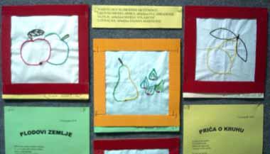 plakat: likovna grupa; vezilje i literalna grupa